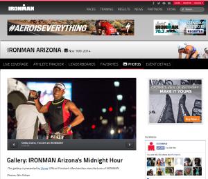 Ironman webpage