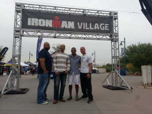 Chilling at the Ironman Villiage