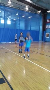 Kids at Dad's basketball camp of discipline